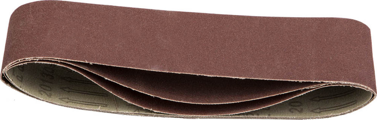 Лента шлифовальная STAYER P180, 75х533 мм, 3 шт., на тканевой основе, универс. бесконечная для ЛШМ (35442-180)