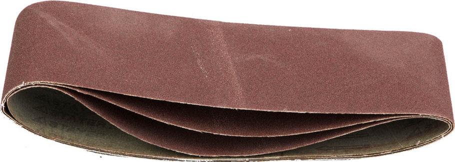 Лента шлифовальная STAYER P100, 100х610 мм, 3 шт.на тканевой основе, универс. бесконечная для ЛШМ (35443-100), фото 2