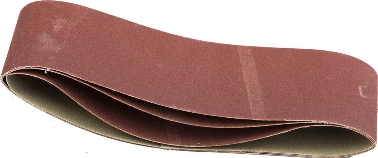 Лента шлифовальная STAYER P180, 100х610 мм, 3 шт.на тканевой основе, универс. бесконечная для ЛШМ (35443-180)