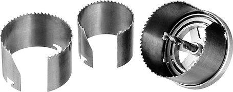 Пила кольцевая наборная по дереву ЗУБР 60-73-80 мм, 3 шт. (29595-H3-42), фото 2