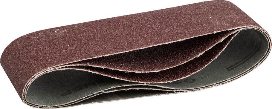 Лента шлифовальная ЗУБР P40, 75х457 мм, 3 шт., универс. бесконечная на тканевой основе для ЛШМ (35541-040), фото 2