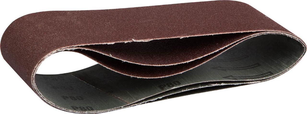 Лента шлифовальная ЗУБР P80, 75х457 мм, 3 шт., универс. бесконечная на тканевой основе для ЛШМ (35541-080)