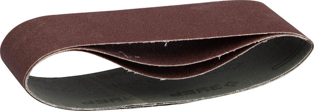 Лента шлифовальная ЗУБР P100, 75х457 мм, 3 шт., универс. бесконечная на тканевой основе для ЛШМ (35541-100)