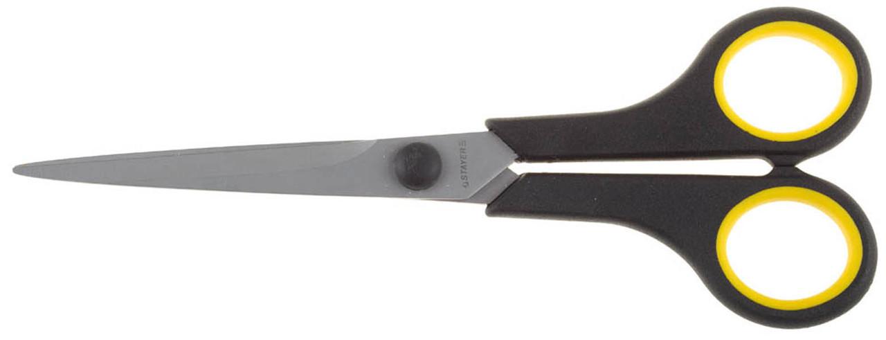 Ножницы хозяйственные STAYER 175 мм, прямые, двухкомпонентные ручки (40465-18)
