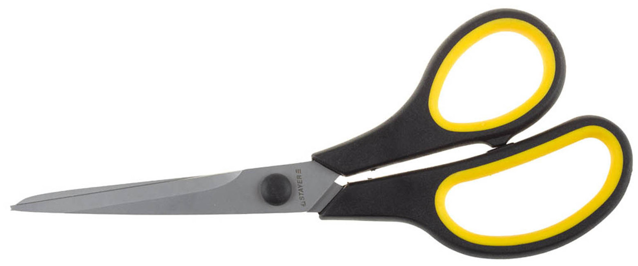 Ножницы хозяйственные STAYER 195 мм, изогнутые, двухкомпонентные ручки (40466-19)