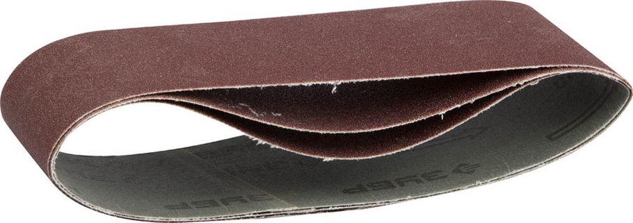 Лента шлифовальная ЗУБР P100, 75х533 мм, 3 шт., универс. бесконечная на тканевой основе для ЛШМ (35542-100), фото 2