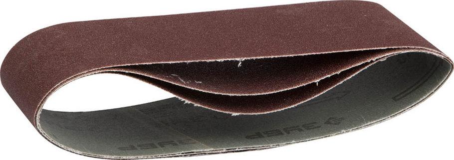 Лента шлифовальная ЗУБР P150, 75х533 мм, 3 шт., универс. бесконечная на тканевой основе для ЛШМ (35542-150), фото 2