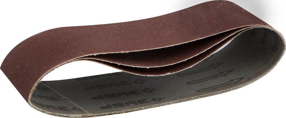 Лента шлифовальная ЗУБР P180, 75х533 мм, 3 шт., универс. бесконечная на тканевой основе для ЛШМ (35542-180), фото 2