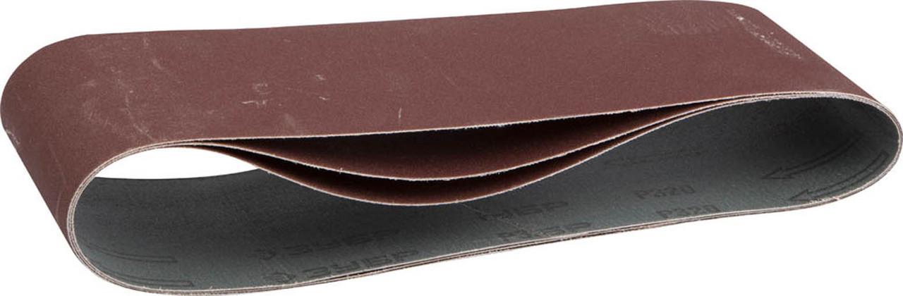 Лента шлифовальная ЗУБР P320, 100х610 мм, 3 шт., универс. бесконечная на тканевой основе для ЛШМ (35543-320)