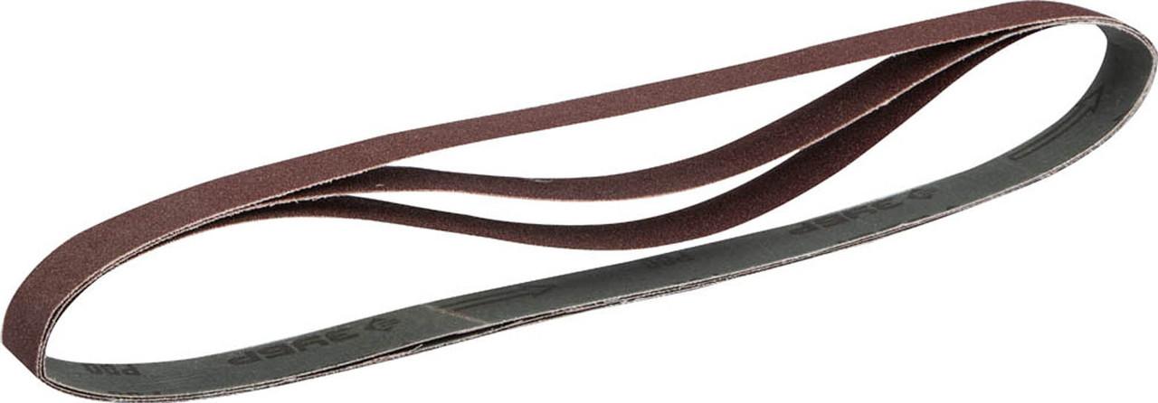 Лента шлифовальная ЗУБР Р80, 25х762 мм, 3 шт., универсальная бесконечная для ЗШС-330 (35547-080)