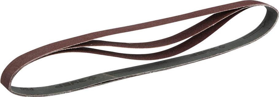 Лента шлифовальная ЗУБР Р120, 25х762 мм, 3 шт., универсальная бесконечная для ЗШС-330 (35547-120) , фото 2