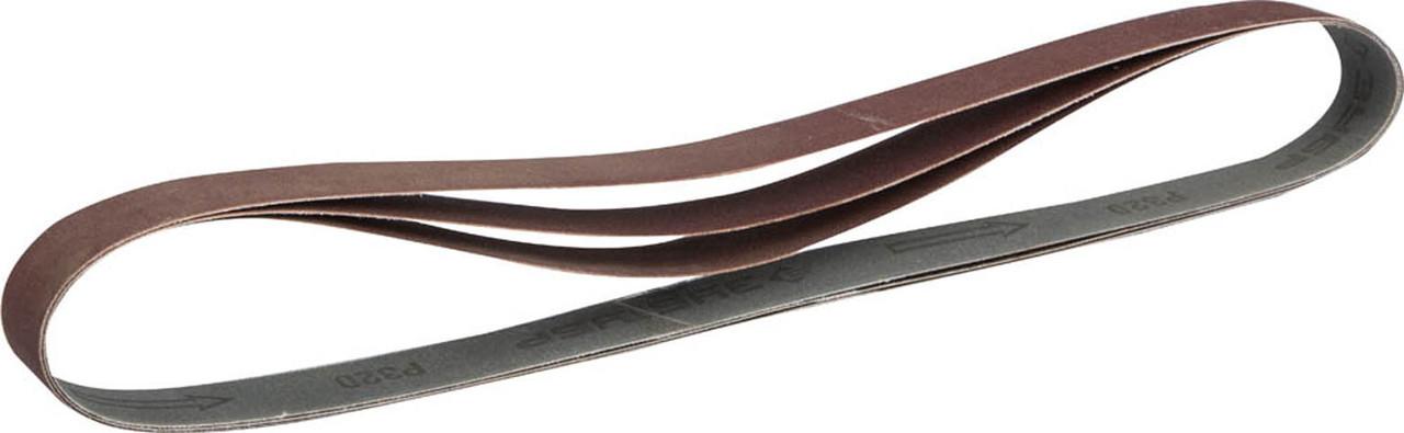 Лента шлифовальная ЗУБР Р320, 25х762 мм, 3 шт., универсальная бесконечная для ЗШС-330 (35547-320)