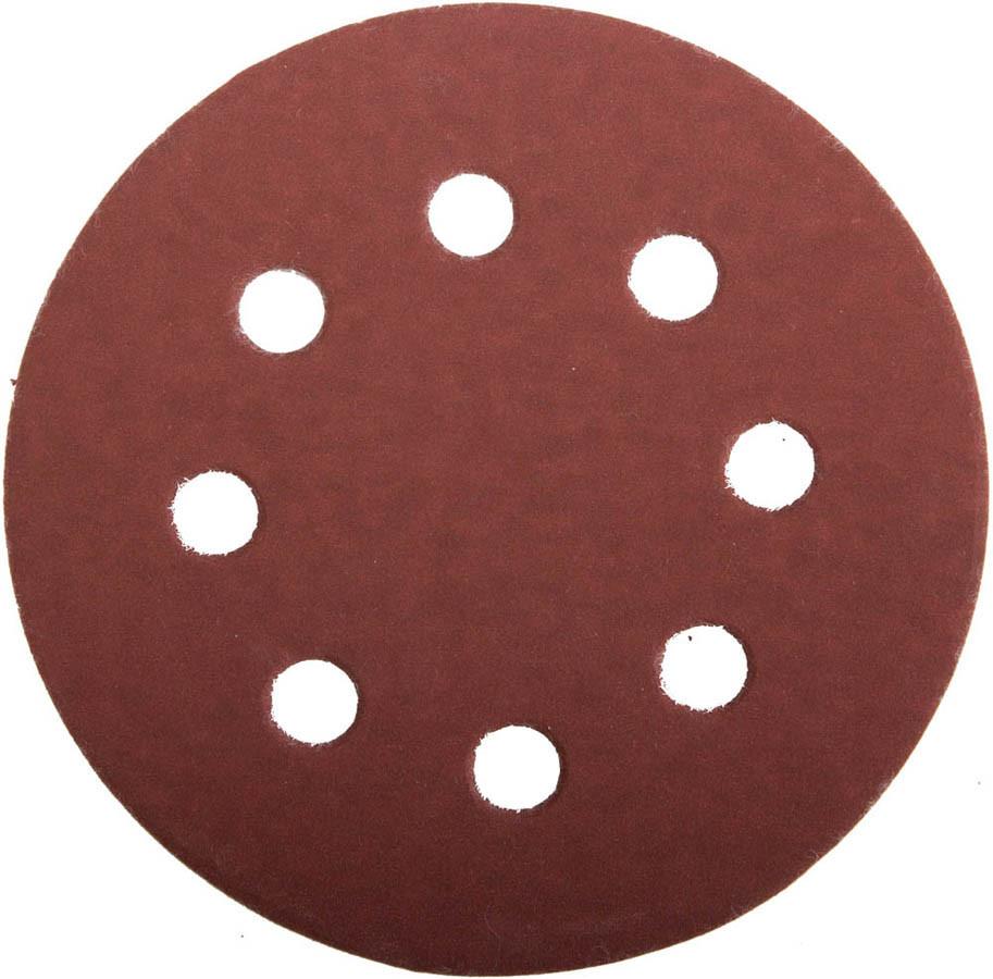 Круг шлифовальный ЗУБР 8 отв., Р600, 115 мм, 5шт, из абразивной бумаги на велкро основе,  (35560-115-600)
