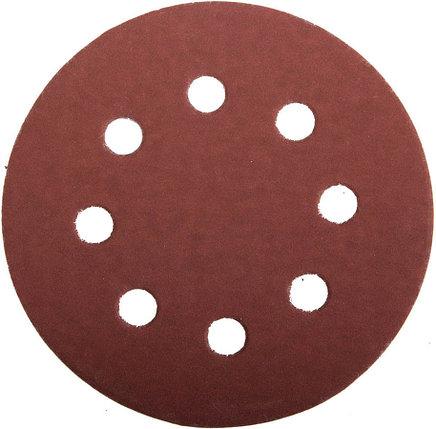 Круг шлифовальный ЗУБР 8 отв., Р600, 115 мм, 5шт, из абразивной бумаги на велкро основе,  (35560-115-600), фото 2