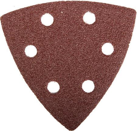 Треугольник шлифовальный ЗУБР Р80, 6 отверстий, 93 х 93 х 93 мм, 5 шт., универс. на велкро основе (35583-080), фото 2