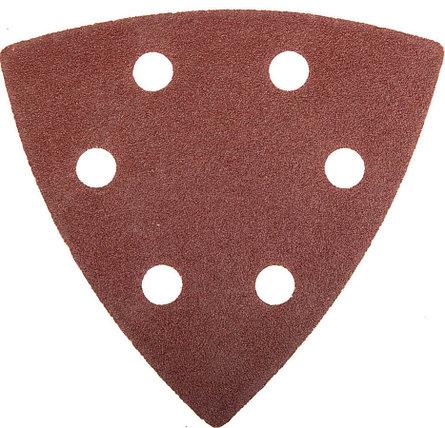 Треугольник шлифовальный ЗУБР Р100, 6 отверстий, 93 х 93 х 93 мм, 5 шт., универс. на велкро основе (35583-100), фото 2