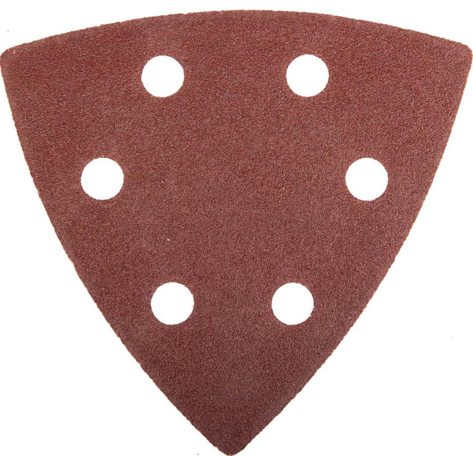Треугольник шлифовальный ЗУБР Р120, 6 отверстий, 93 х 93 х 93 мм, 5 шт., шлиф. универс. на велкро (35583-120)