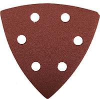 Треугольник шлифовальный ЗУБР Р180, 6 отверстий, 93 х 93 х 93 мм, 5 шт., универсальный на велкро основе