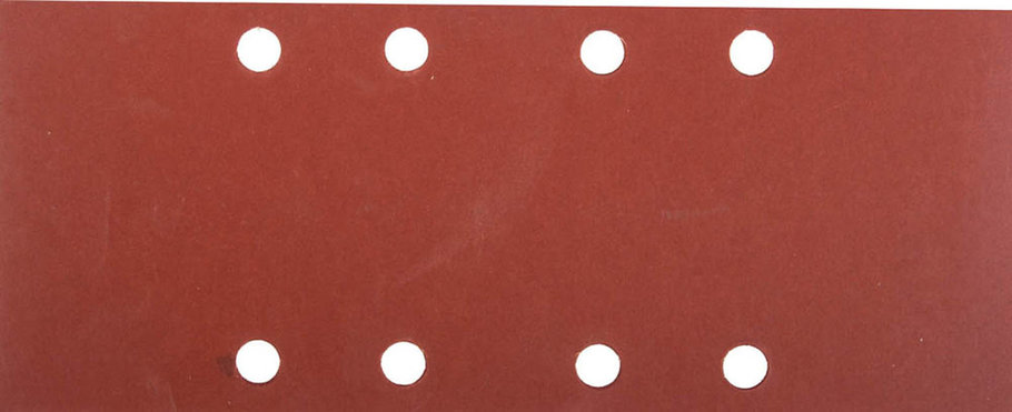 Лист шлифовальный для ПШМ, ЗУБР 93 х 230 мм, P1000, 5 шт., универсальный, 8 отверстий по лини (35591-1000), фото 2