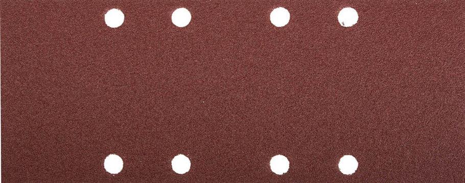 Лист шлифовальный ЗУБР 93 х 230 мм, P120, 5 шт., универсальный для ПШМ, 8 отверстий (35591-120), фото 2