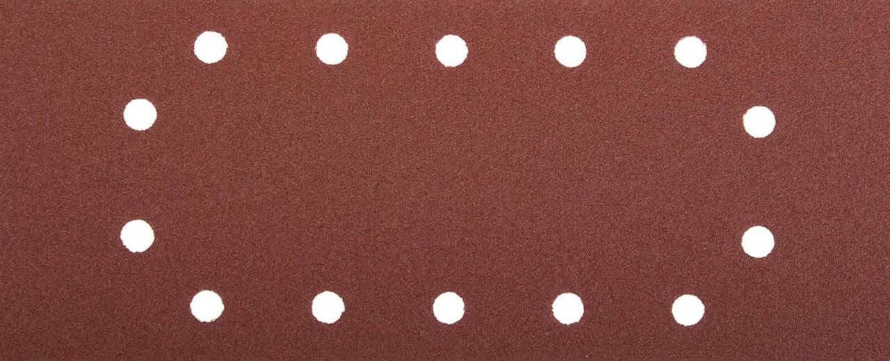 Лист шлифовальный ЗУБР 115 х 280 мм, P80, 5 шт., универсальный для ПШМ, 14 отверстий (35594-080)