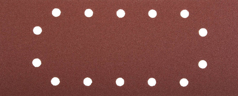 Лист шлифовальный ЗУБР 115 х 280 мм, P80, 5 шт., универсальный для ПШМ, 14 отверстий (35594-080), фото 2
