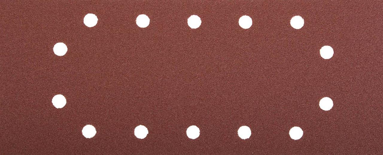 Лист шлифовальный ЗУБР 115 х 280 мм, P100, 5 шт., универсальный для ПШМ, 14 отверстий (35594-100)
