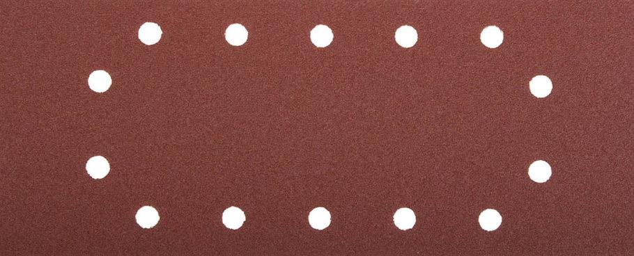 Лист шлифовальный ЗУБР 115 х 280 мм, P120, 5 шт., универсальный для ПШМ, 14 отверстий (35594-120), фото 2