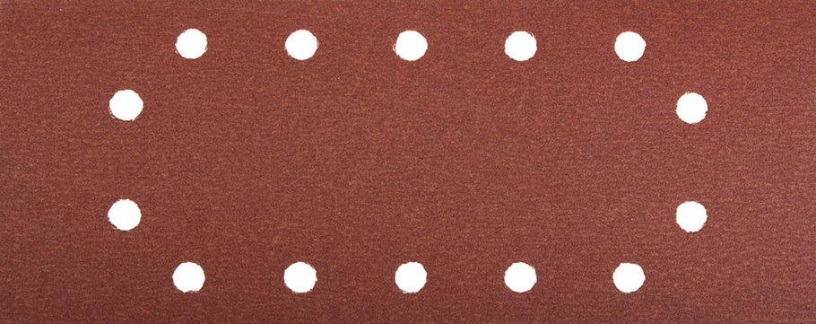 Лист шлифовальный ЗУБР 115 х 280 мм, P180, 5 шт., универсальный для ПШМ, 14 отверстий (35594-180), фото 2