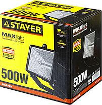 Прожектор галогенный STAYER 500 Вт, MAXLight, с дугой крепления под установку, черный (57103-B), фото 3