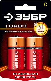 Батарейка алкалиновая TURBO, ЗУБР с, 2 шт. (59215-2C)