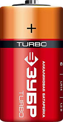 Батарейка алкалиновая TURBO, ЗУБР с, 2 шт. (59215-2C), фото 2