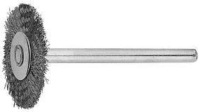 Щетка радиальная на шпильке ЗУБР 20 x 3.2 мм, L 42 мм, нержавеющая сталь (35931)