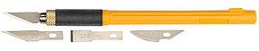 Нож перовой с профильными лезвиями OLFA 6 мм (OL-AK-4)