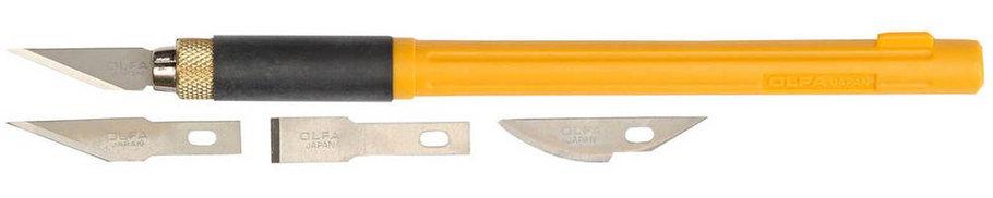 Нож перовой с профильными лезвиями OLFA 6 мм (OL-AK-4), фото 2