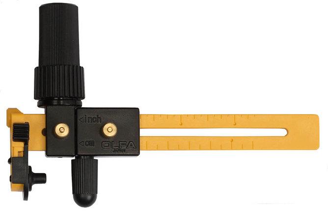 Нож циркульный трещоточный OLFA диаметр реза 40-220 мм, с круглым лезвием 18х0,3 мм (OL-CMP-3), фото 2