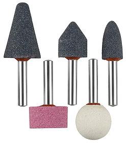 Мини-шарошки насадки ЗУБР 5 шт., хвостовик Ø 6 мм, набор, абразивные (35994-H5)