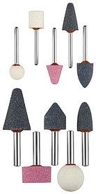 Мини-шарошки насадки ЗУБР хвостовик Ø 3,2 мм, Ø 6 мм, набор, абразивные (35998-H10)