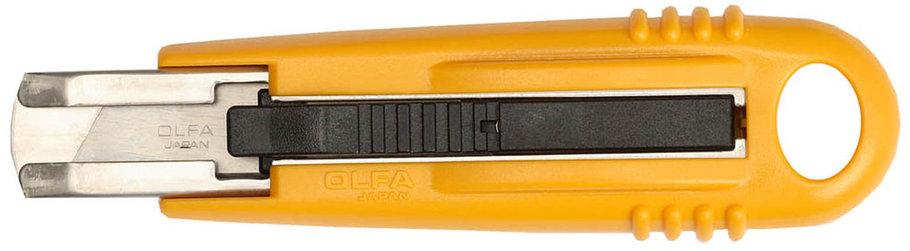 Нож с выдвижным лезвием и возвратной пружиной OLFA 17.5 мм (OL-SK-4), фото 2