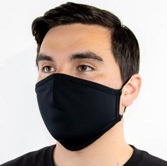 Многоразовая маска, мужская, с логотипом.