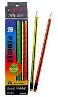Набор простых карандашей с резинкой