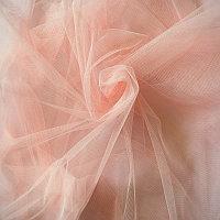 Фатин персиковый ткань, погоный метр (300см) за 700тг.