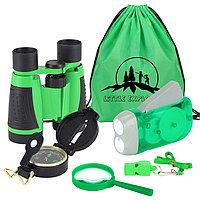 """Набор юного натуралиста """"Adventure Kit"""" из 5 предметов (Зеленый)"""
