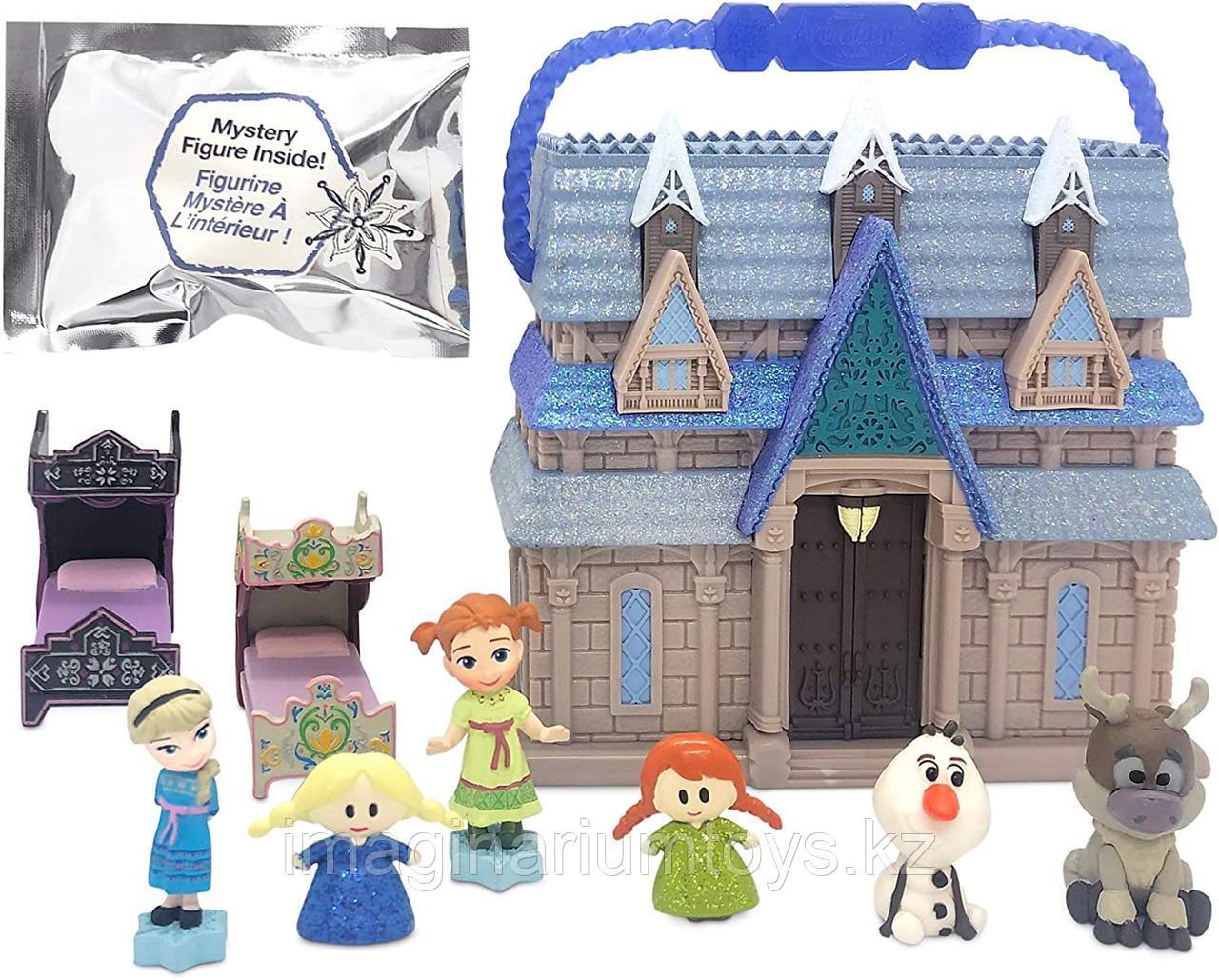 Мини домик Эльзы и Анны Холодное сердце Frozen с героями