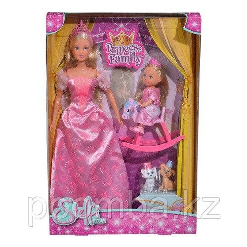 Игровой набор Куклы Штеффи и Еви Принцессы со зверушками