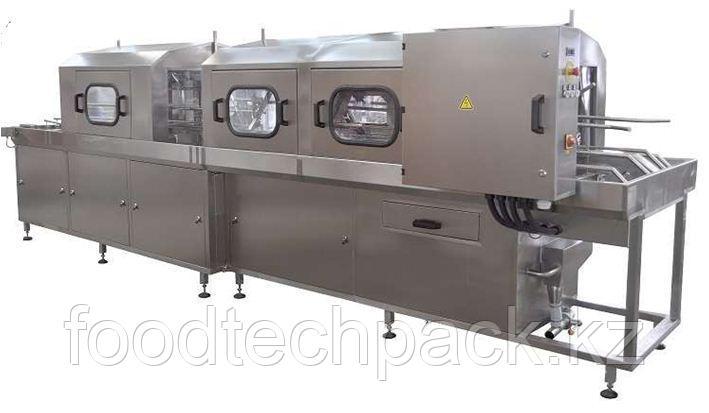 Машина для мойки контейнеров с крышками с обдувом 240 шт./час