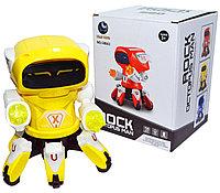 58661 Робот на батарейках Rock octopus man светится ходит 20*15