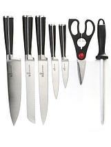 Набор стальных ножей с литыми рукоятями на подставке HATCHEN {8 предметов} (Салатовый), фото 3