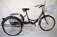 Трехколесный велосипед для взрослых IZH-BIKE Farmer (Фермер) 24'' черный