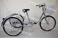 Трехколесный велосипед для взрослых IZH-BIKE Farmer (Фермер) 24'' серебро